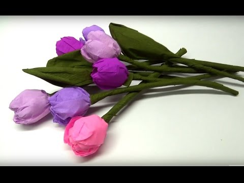 DIY crafts - How to make beautiful paper tulip flowers / easy paper crafts / DIY beauty and easy