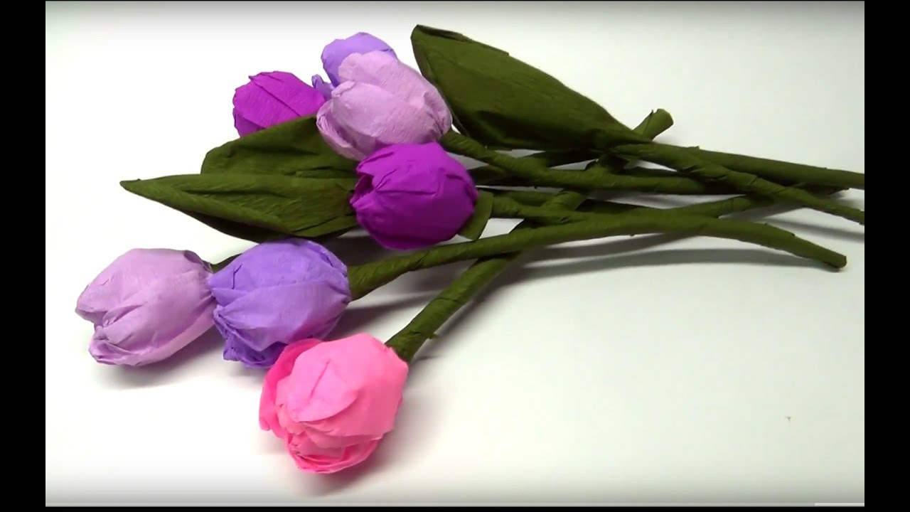Diy Crafts How To Make Beautiful Paper Tulip Flowers Easy Paper