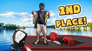 GIANT *5lb* LARGEMOUTH BASS CAUGHT IN TOURNAMENT! (Bass Fishing)