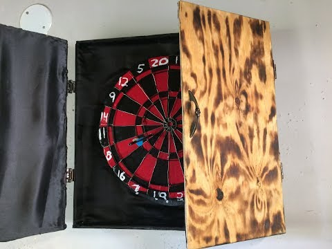 How To Make A Dart Board And Cabinet