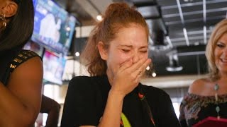 FOX5 Surprise Squad  Waitress with Dying Husband Gets $12,000 Tip!
