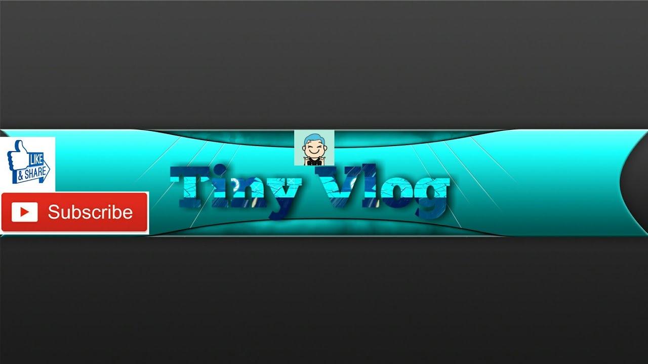 Cách Làm Ảnh Bìa Youtube Banner | Tiny Vlog