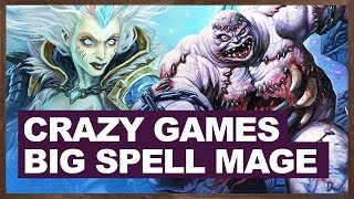 CRAZY Games | Big Spell Mage 2018 | The Witchwood Hearthstone