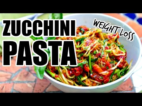 Easy Zucchini Noodles Recipe + Healthy Pasta Sauce | Healthy Dinner Ideas