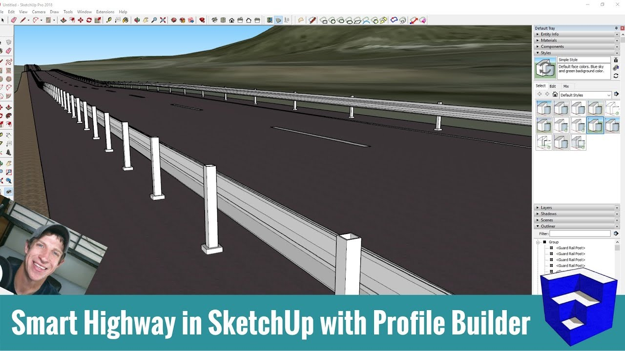 Modeling a Highway in SketchUp with Profile Builder! - The SketchUp