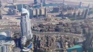 Dubai - Burj Khalifa from the top and the bottom