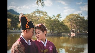 Photoshoot in Gyeongbokgung Palace in South Korea