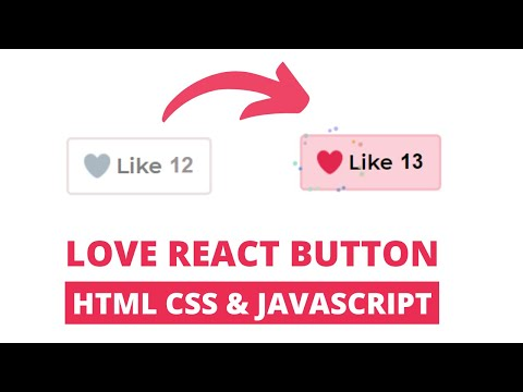 Animated Love React Button With HTML CSS & JS