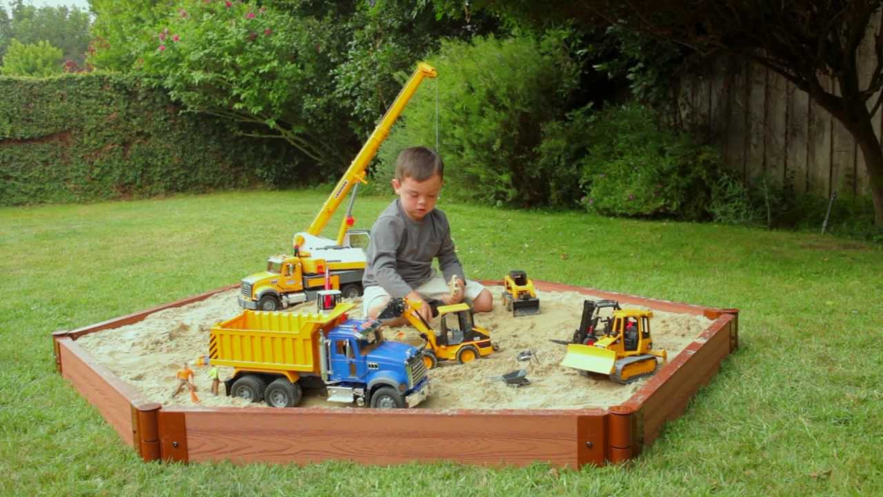 Construction Equipment Toys For Boys : Bruder toys bworld construction site flash mob dance youtube