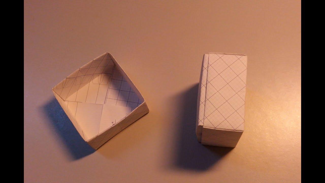 Gấp giấy Origami: Hướng dẫn Gấp Hộp quà tặng giấy