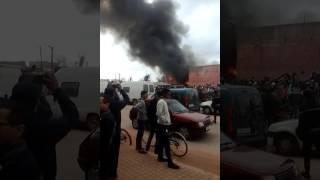 حريق مهول بمديونة بالدار البيضاء