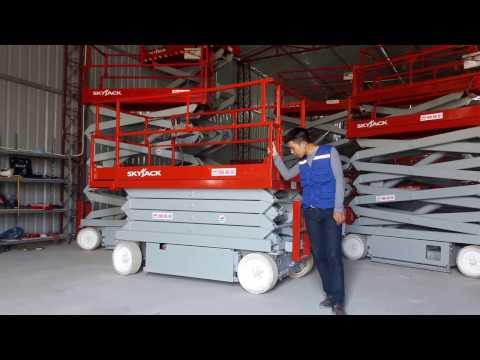 Hướng dẫn sử dụng xe nâng người cắt kéo scissor lift