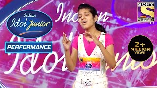 Bubbly Sakshi Delivers A Lyrical Performance | Indian Idol Junior 2