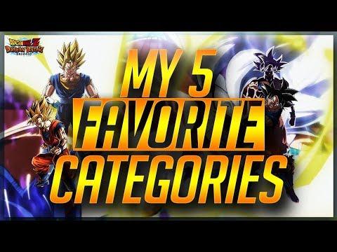 MY 5 FAVORITE CATEGORIES IN DOKKAN! (DBZ: Dokkan Battle)