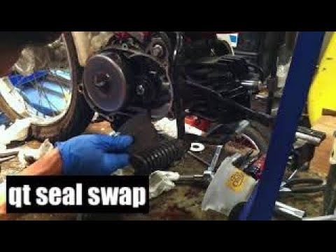 Yamaha qt50 right side crank seal replacement 1 - YouTube