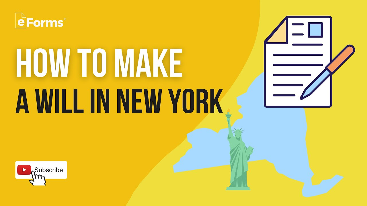 Free New York Last Will and Testament Template - PDF  Word – eForms