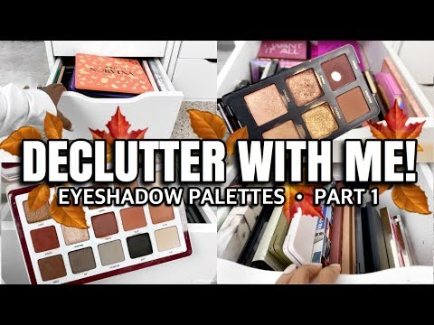 IT'S TIME!! MASSIVE EYESHADOW PALETTE DECLUTTER PART 1 | HIGH END EYESHADOW PALETTES | Andrea Renee
