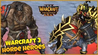 Warcraft 3 Reforged | Horde Heroes & Spell Animations
