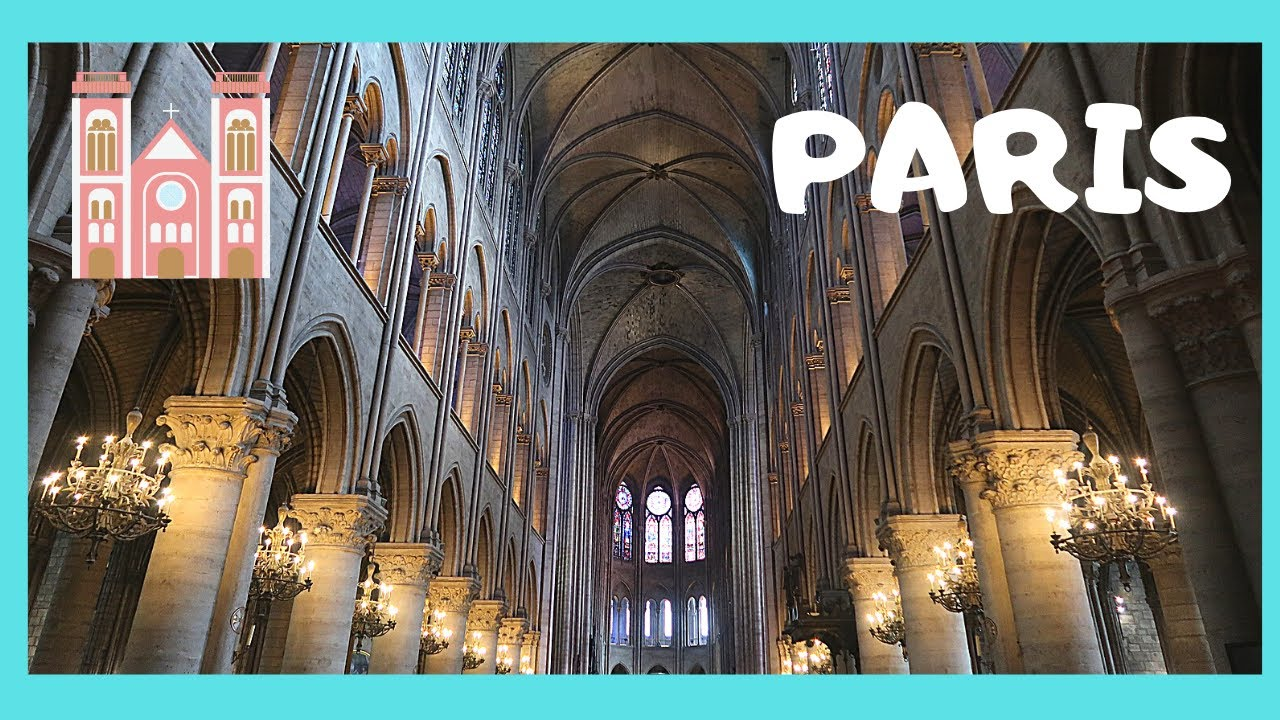 Paris Interior Of Notre Dame Cathedral Before The Fire Youtube