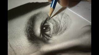Desenhando um olho realista com lápis grafite - Speed Draw