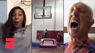 ESPN personalities react to viral sports videos