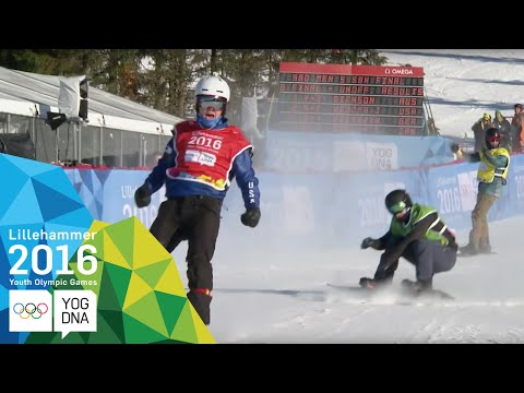 Snowboard Cross - Jake Vedder (USA) wins Men's gold   Lillehammer 2016 Youth Olympic Games