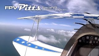 FPV Pitts Special - 3rd year of great cloud surfing anniversary 2015