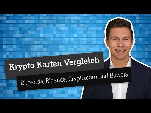 Krypto Karten Vergleich: Bitpanda, Binance, Crypto.com und Bitwala Karte im Test