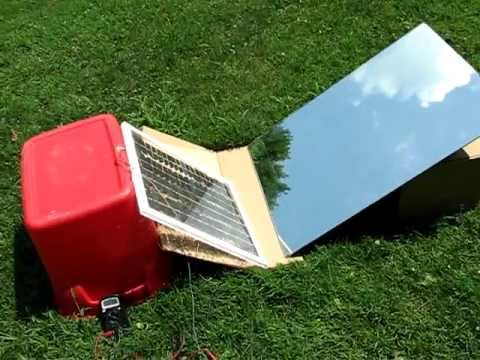 diy-solar-panel-with-mirror-high-amps-video-test-2-heat-test,,-free-energy