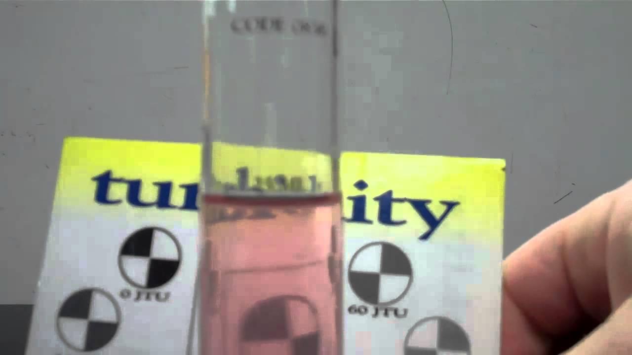Water Test Turbidity Youtube