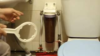 Замена фильтра или как поменять магистральный фильтр для очистки воды своими руками!!!