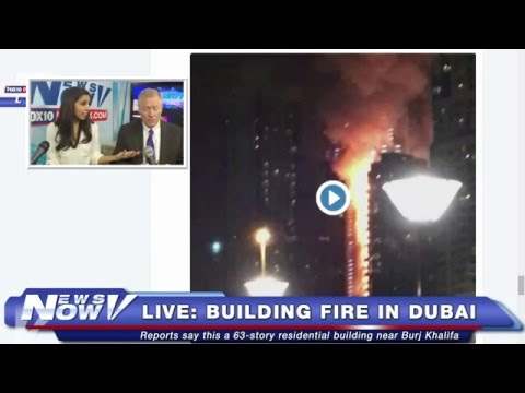 FNN: Comedian Rob Schneider, NYE Celebration in NYC, Building on Fire Near Burj Khalifa in Dubai