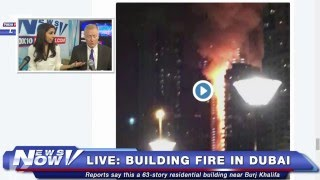 FNN: Comedian Rob Schneider, NYE Celebration in NYC, Building on Fire Near Burj Khalifa in Dubai