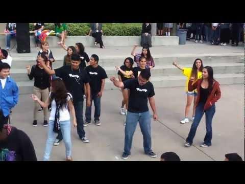 Brazilian Girl dancing Samba at High School