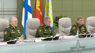 Министр обороны России генерал армии Сергей Шойгу провел очередное селекторное совещание