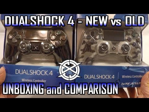 Unboxing New PS4 Controller vs Old PS4 Controller (Dualshock 4 Comparison)