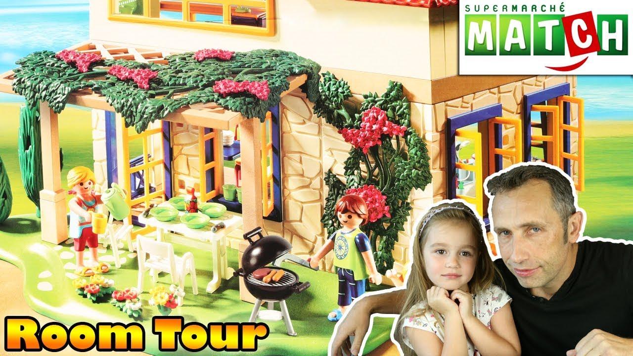 Montage Et Room Tour De La Maison De Campagne Playmobil 4857 Supermarches Match Youtube