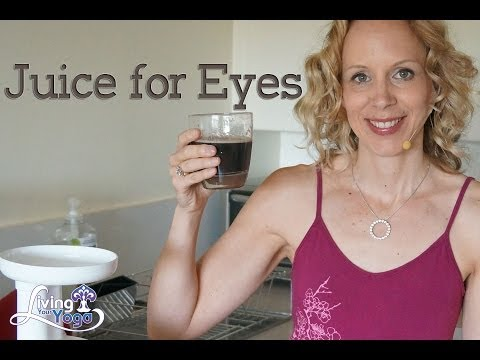 Juicing for eye health