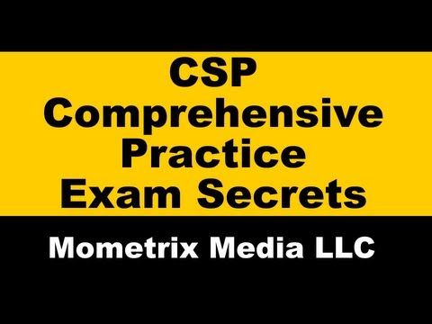 CSP Exam Study Guide Injury Claims