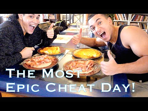 15,000 Calorie Challenge Epic CHEAT DAY in NY! FOOD COMA ALERT