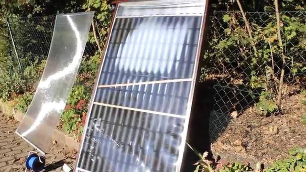 solar luftkollektor schmilzt wegen der hitze youtube. Black Bedroom Furniture Sets. Home Design Ideas