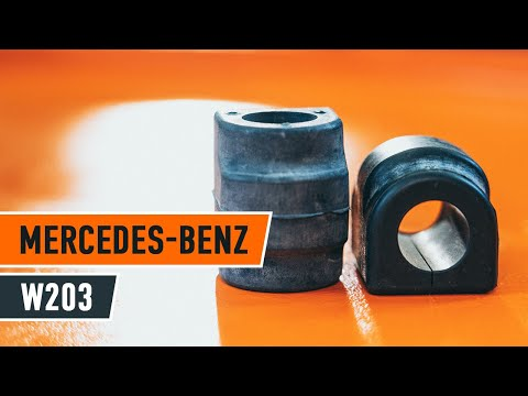 How to replace Front stabilizer bushes on MERCEDES-BENZ C W203 TUTORIAL | AUTODOC