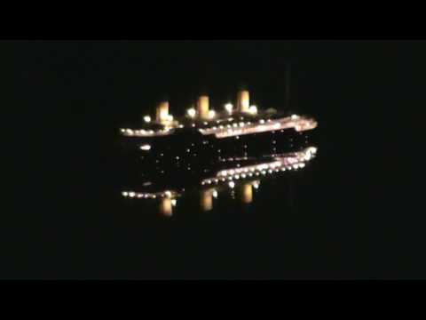 Ocean Liner L'Atlantique at night!