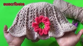 Sombreros tejidos a crochet paso a paso para niña