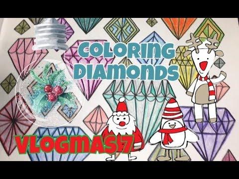 Coloring - Folk Art Escapes -Diamonds (Vlogmas Day 7)