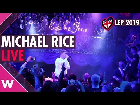 "Michael Rice ""Bigger Than Us"" (UK) LIVE @ London Eurovision Party 2019"