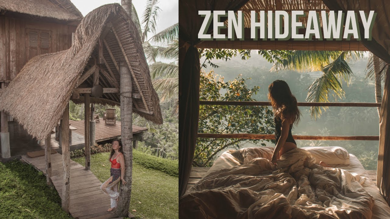 Luxury Airbnb Treehouse Tour Zen Hideaway Villa Bali Youtube