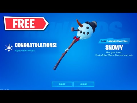 How I Unlocked The *FREE* Snowy Pickaxe In Fortnite - Winterfest Daliy Challenges Day 8