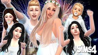 The Sims 4 | Desafio dos 100 Bebês | FESTA de ANO NOVO com TODOS os FILHOS Ep:135