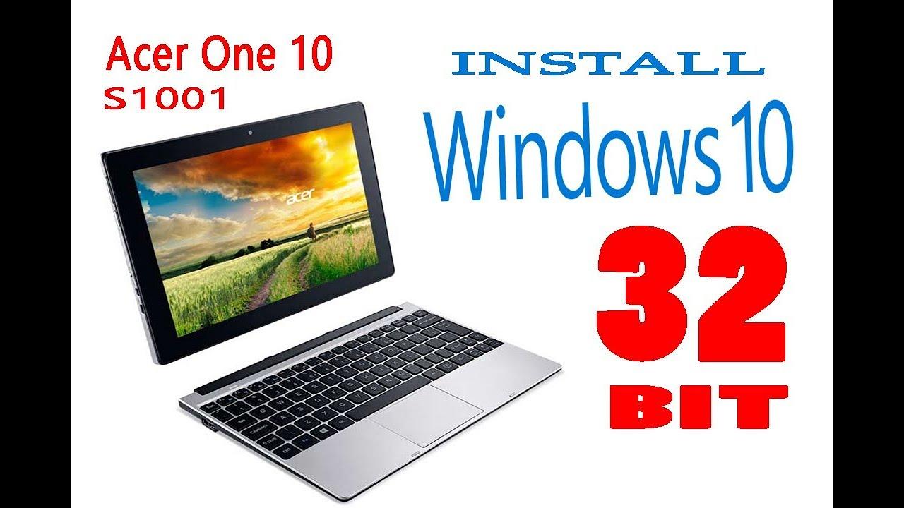 Acer One 10 S1001 Cara Instal Windows 10 32 Bit Youtube